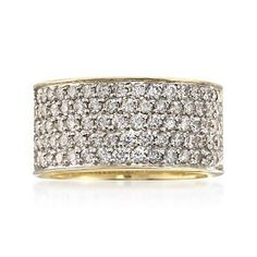 2.00 ct. t.w. Diamond Wide Band Ring in 14kt Yellow Gold