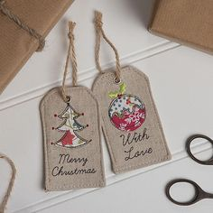 Fabric Christmas Gift Tag