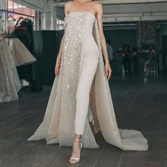 Tube Top Dress, The Dress, Bridal Dresses, Prom Dresses, Formal Dresses, Satin Jumpsuit, Jumpsuit Outfit, Couture Fashion, Beautiful Dresses