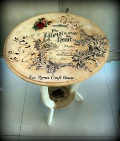 I will show you how to decoupage a lovely tea box from. I used decoupage glue and paper napkins. Decoupage Furniture, Hand Painted Furniture, Recycled Furniture, Refurbished Furniture, Paint Furniture, Shabby Chic Furniture, Furniture Projects, Furniture Makeover, Decoupage Dresser