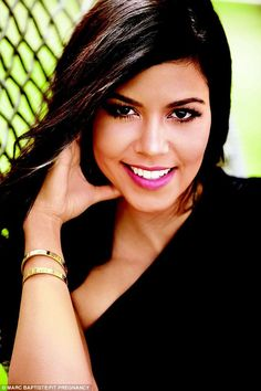 Ready for her close-up: Pregnancy agrees with Kourtney as she displayed in this dazzling c...