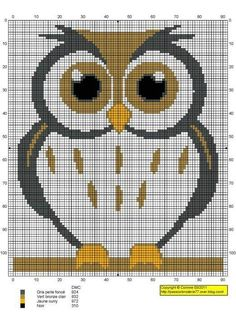 free owl cross stitch patterns   Found on korsstygnsarkivet.blogspot.com