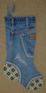 Nebraska Views: Denim Jeans Christmas Stockings