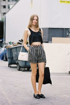 High Waisted Shorts: 25 Stylish Ways to Wear Them Now | StyleCaster