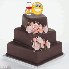 Beautiful Roses, Qoutes, Birthdays, Happy Birthday, Cake, Desserts, Pasta, Coffee, Happy Brithday
