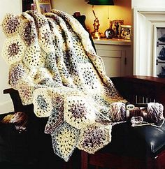 Ravelry: Hexagon Afghan pattern by Lion Brand Yarn