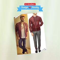 ‪#‎Design‬ vs ‪#‎Reality‬ ‪#‎Ranveer‬ looks fabulous in an Oxblood airtex mesh bomber Jacket. How much would you rate for his Style out of 5? (Image copyrights belong to their respective owners)