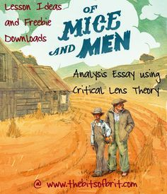 Teaching Lens Theory using Steinbeck's Of Mice and Men - High School English - http://thebitsofbrit.com
