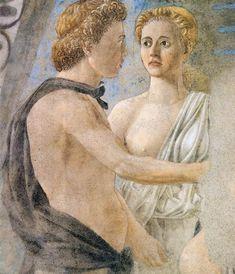 Piero della Francesca, La mort d'Adam, Arezzo, détail