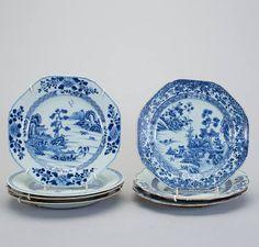 Set de 7 pratos em porcelana Chinesa de Cia das Indias do sec.18th, 23,5cm de diametro, 2,150 USD / 1,890 EUROS / 8,090 REAIS / 13,590 CHINESE YUAN soulcariocantiques.tictail.com