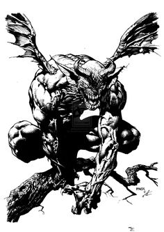 David Finch Sketch inking by VincentDorian.deviantart.com on @deviantART