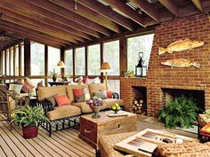 screened+in+porch+decorating+ideas   Screened Porch: West Bay Idea House - MyHomeIdeas.com