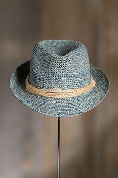Kingwood Crocheted Raffia Fedora Hat