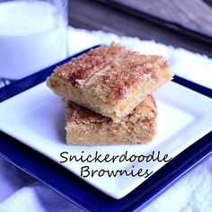 Snickerdoodle Brownies...These are in the oven now. I hope they taste as good as they smell!!!