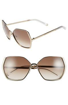 6948dcb0163d94 Chloé  Danae  60mm Gradient Sunglasses   Nordstrom. Lunettes De Soleil ...