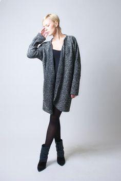 Oversize Sweater Coat / Spring Coat / Sweater Dress / Cardigan / Wrap Dress / Minimalist Style - MC018