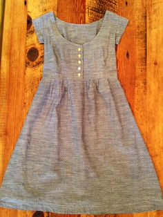 made by rae washi dress with button placket