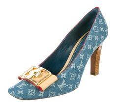 Louis Vuitton Lv Monogram Denim Blue Pumps. Get the must-have pumps of this season! These Louis Vuitton Lv Monogram Denim Blue Pumps are a top 10 member favorite on Tradesy. Save on yours before they're sold out!