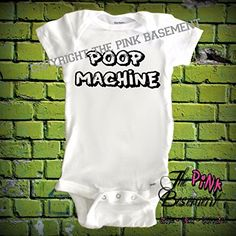 HANDMADE Baby Poop Machine Diaper Clothing Humor kids funny Unisex Boys Girls Newborn Infant Onesies Shower Gift Clothing Gifts Present Personalized kids diaper cover >>> More info could be found at the image url.Note:It is affiliate link to Amazon.
