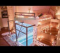 Dream Rooms Bedroom Goals - Decoration Home Cute Bedroom Ideas, Cute Room Decor, Girl Bedroom Designs, Teen Room Decor, Awesome Bedrooms, Cool Rooms, Bedroom Decor, Bedroom Furniture, Furniture Sets