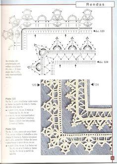 Photo from album Crochet Edging Patterns Free, Crochet Lace Edging, Crotchet Patterns, Crochet Borders, Crochet Doilies, Stitch Patterns, Crochet Edgings, Filet Crochet, Crochet Chart
