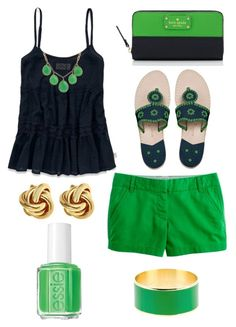 """""""Green and navy"""" by kmparks123 ❤ liked on Polyvore"""