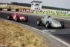 Giancarlo Baghetti Dan Gurney Ferrari 156 Porsche 718 Grand Prix of France Reims 02 July 1961 Fierce battle for victory between Dan Gurney and...