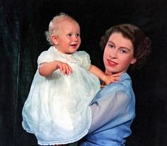 The official christening portrait of Princess Anne (later The Princess Royal), who was born on 15 August 1950.