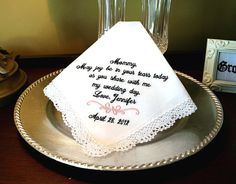 Mother of The Bride Handkerchief Grandmother of by MisterandMrs, $22.95