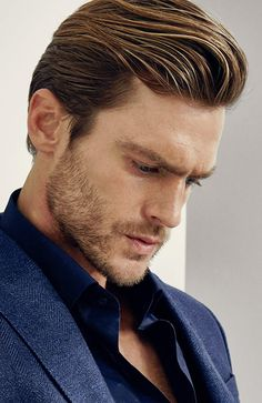 Men's Hairstyles Swept back quiff. Photo: Massimo Dutti. #menshairstyles #menshair #quiff