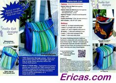 Tote Bag, Purse, Back Pack Patterns - Erica's Craft & Sewing Center