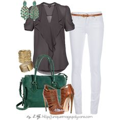 Love the Charcoal Blouse - Polyvore