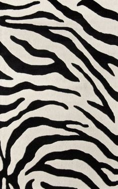 Rugs USA Serendipity Zebra Print Rug wool Sizes: x Round, x x x x and x