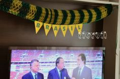 Varal de bandeirinhas 98, Bunting Garland, Clothes Line, World Cup, Personalized Stationery, Party, Soccer