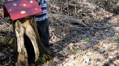 Making a tree stump...magical.