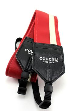Red and White Racing Stripe Camera Strap by couchguitarstraps, $26.95