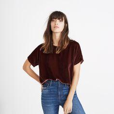 Velvet Tulip-Hem Top : tops & blouses | Madewell