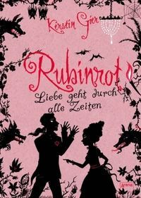 Rubinrot (Edelstein-Trilogie, In English Ruby Red by Kerstin Gier- such a good series Good Books, Books To Read, My Books, Film Music Books, Audio Books, Beautiful Book Covers, Books For Teens, Book Cover Art, Fantasy Books
