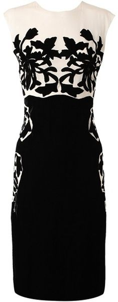 Bottega Venata ~ Silk Dress with Velvet Applique