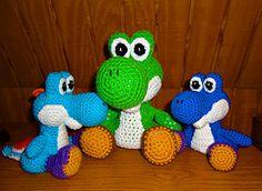 Ravelry: Yoshi pattern crochet dinosaur amigurumi pattern by Jennie Faith. $6.00