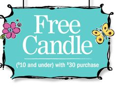 Free candle with purchase