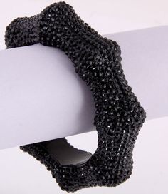 Crystalicious Bamboo Bracelet (Black) - $20.00 : K.I.S.S. Boutique!, Keep It Sweet and Sexy