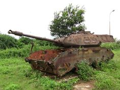 Abandoned U.S. tank from the Vietnam War, 2011