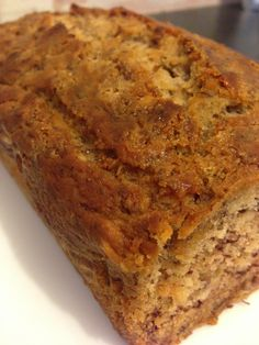 Vegetarian Gluten free · My Gluten Free banana bread tastes amazing & you can eat as much as you want! It's gluten free, dairy free, refined sugar free & fat free too! Super Healthy Banana Bread, Gluten Free Banana Bread, Healthy Cake, Banana Bread Recipes, Healthy Baking, Sugar Free Baking, Sugar Free Desserts, Sugar Free Recipes, Gluten Free Desserts