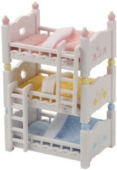 Sylvanian Families Triple Bunk Beds Action- & Spielfiguren Assorted colors