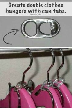 Repurpose can tabs to get the most out of your hangers.