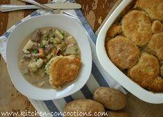 Beef and Vegetable Pot Pie with Rosemary Biscuit Crust   Vegetable Pot ...