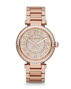 +Mid-Size+Rose+Golden+Skylar+Two-Hand+Glitz+Watch+by+Michael+Kors+at+Neiman+Marcus.