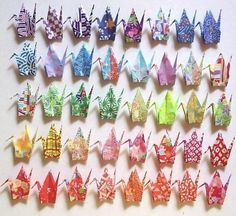 Origami Paper Crane, Origami Cranes, Oragami, Arts And Crafts, Paper Crafts, Felt Crafts, Cardboard Paper, Diy Gifts, Handmade Gifts