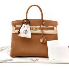 3e59b8fba71d New Women s Hermes Birkin Bag 35cm Togo Gold Item    35-GOLD-TOGO